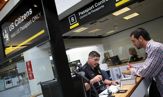 Passport control USA