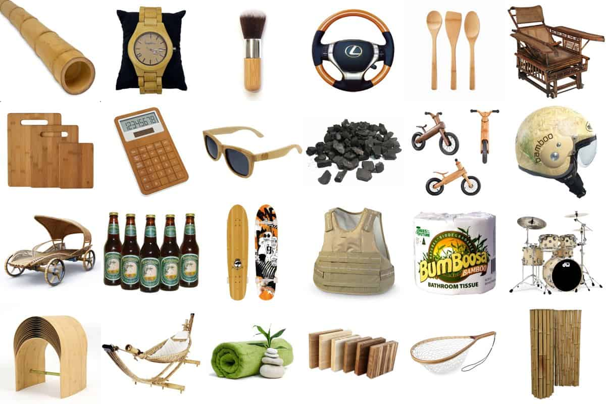 Bamboo products instead of plastic